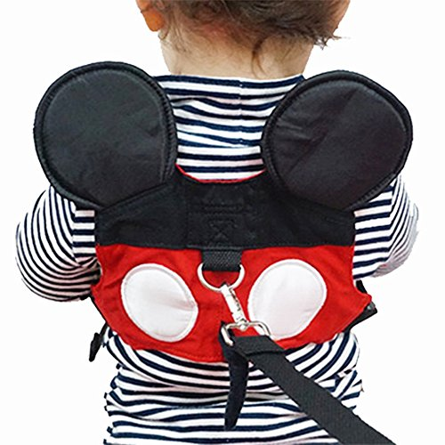 Toddler Anti-lost Harness Belt with Safety Leash Cute Mini Strap for Boys or Girls Ages 1-3 Years . Perfect for the Zoo, Disneyland or Mall