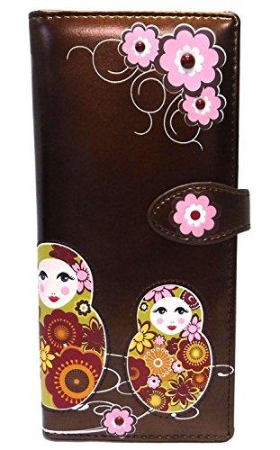 New Bronze Russian Dolls Large Woman's Wallet By Shagwear