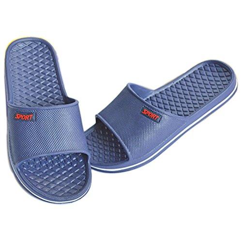 Sommer Männer Frauen Hausschuhe Bad Anti-Rutsch Hausschuhe Schuhe Navy Blau