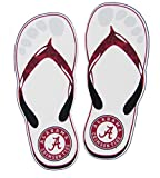 Alabama Crimson Tide White Flip Flops with Seal Logo Mini Decal