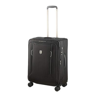 168e02d16 Victorinox Werks Traveler 6.0 Medium Softside Spinner Suitcase, 24-Inch,  Black