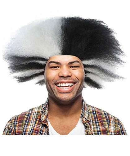 Halloween Party Online Cats Musical Wig, Black & White Adult HM-609A