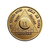 11 Month Bronze AA (Alcoholics Anonymous) – Sober / Sobriety / Birthday / Anniversary / Recovery / Medallion / Coin / Chip Reviews