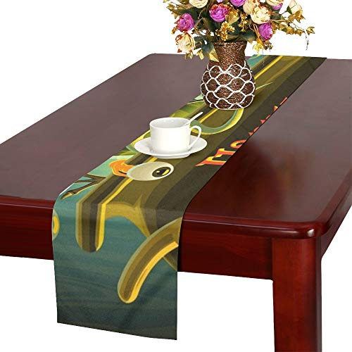 Halloween Witch Cooks Poison Table Runner, Kitchen Dining Table Runner 16 X 72 Inch for Dinner Parties, Events, Decor for $<!--$22.00-->