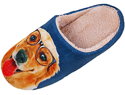 Velvet Shoes Print Women's Dog Slippers Warm HW Animal Men's House Scuff GOODS f8IqIwv