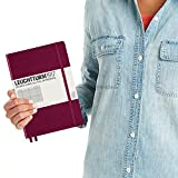 Leuchtturm1917 Medium A5 Squared Hardcover Notebook (Port Red) - 249 Numbered Pages