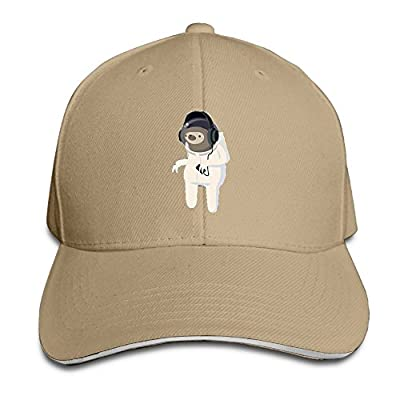 Fenme Astronaut Sloth Unisex Sandwich Caps Cool Snapback Hats Casual Trucker Hats Graphic Snapback Cap