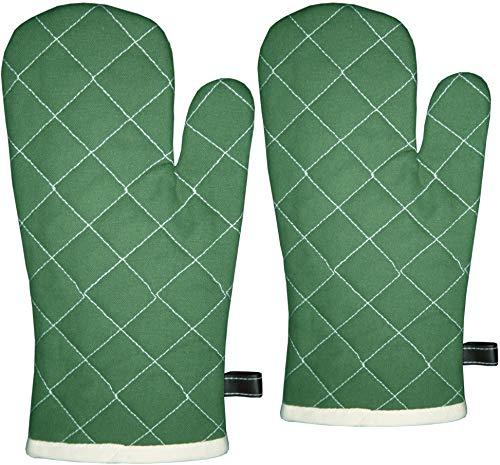 Raksha – 100% Cotton Oven Gloves-Pack of 2-Green Price & Reviews