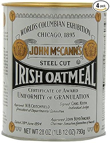 McCanns Harina de avena irlandesa cortada en acero (Pack de 4) 28 onzas: Amazon.es: Alimentación y bebidas