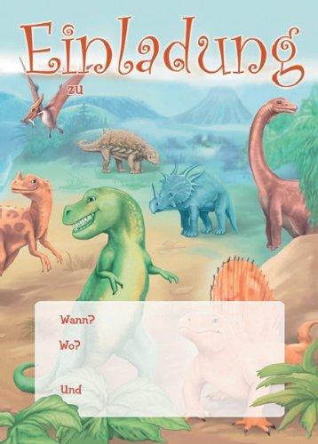 Dinosaurier Dinos Einladungen Geburtstag Kindergeburtstags Einladungen  12er Set: Amazon.de: Bürobedarf U0026 Schreibwaren