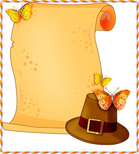 (Thanksgiving Pilgrim Hat & Scroll Stationery Printer Paper 26)