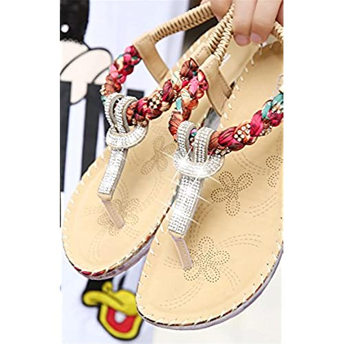18033930f77fa Exquisite Diamond Bohemian National Rhinestone Fashion Flat Shoes Large Size  Casual Shoes Summers Sandals outlet