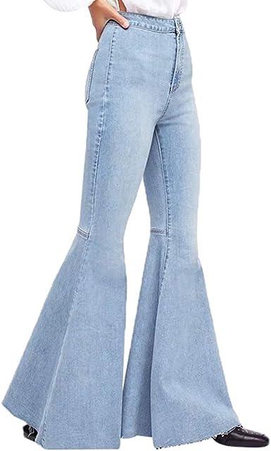 Vaqueros Para Mujer Ultra Moda Color Solido Acampanados Pantalones Push Up Jeans Ajustados De Cintura Alta Casual Pantalones Anchos Elegantes Pantalon Ajustados Leggings Amazon Es Ropa Y Accesorios