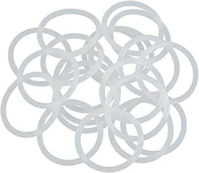 X AUTOHAUX 20pcs White Silicone Rubber O-Ring Seal Gasket for Car 90mm x 3.1mm