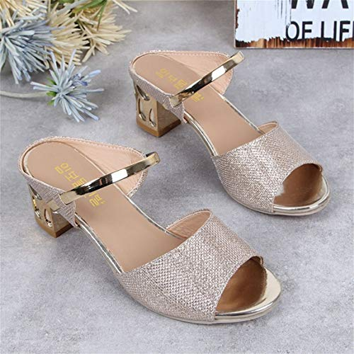 la as de Cu Suaves tac de Las Plataformas Verano Ocasionales del Zapatos Mujeres PU de Moda de la Sandalias q4AXRZ