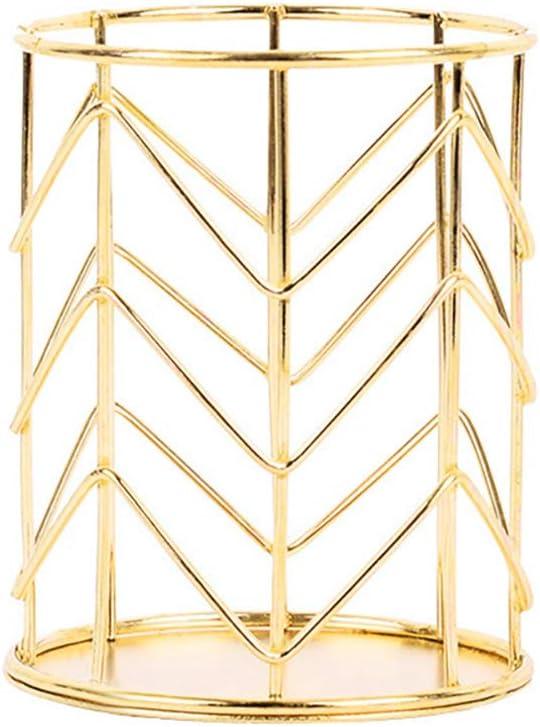 in ferro dorato dorato Portapenne da scrivania in stile nordico XinKu