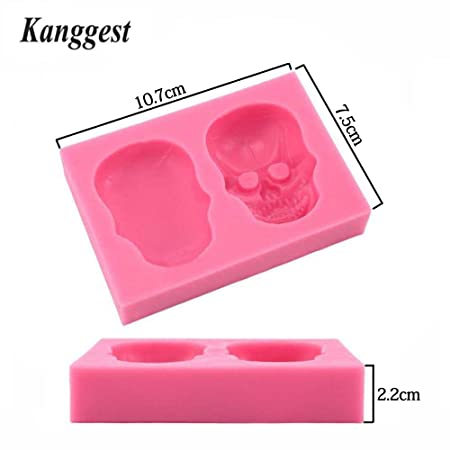 Amazon.com: Hosaire 1 Pcs Skull DIY Baking Fondant Tools Silicone Mold Handmade Soap Chocolate Baking Mold Tool Bakeware Decoration