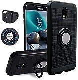 Compatible for Samsung Galaxy J3 2018,J3V J3 V 3rd Gen,Express Prime 3, J3 Star, J3 Achieve, Amp Prime 3 Case,KACHEN 360 Degree Rotating Ring Grip Kickstand Case, Black