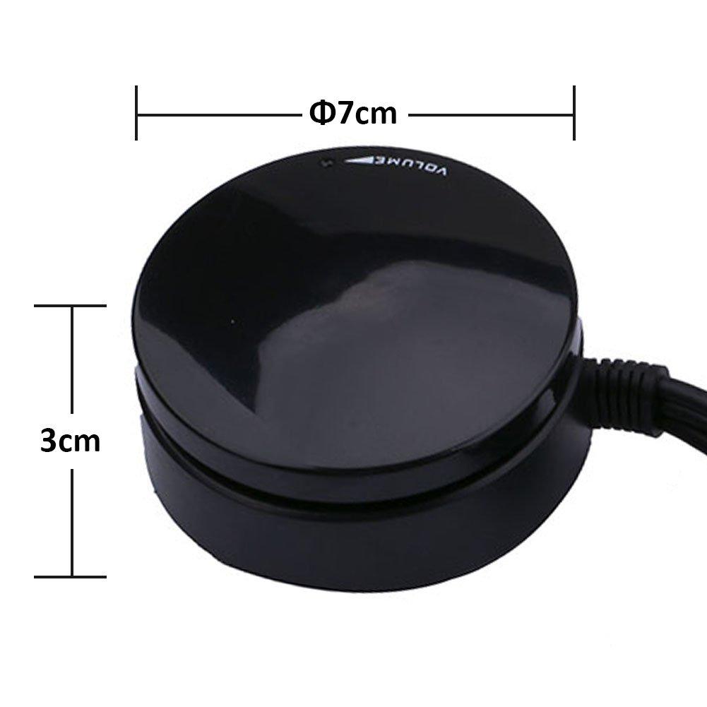 Black Lossless Computer Speakers Headset Audio Switch Converter Volume Control Knob Speaker Volume Controller Regulator Adjuster Support Mute Function Yeeco USB Volume Controller