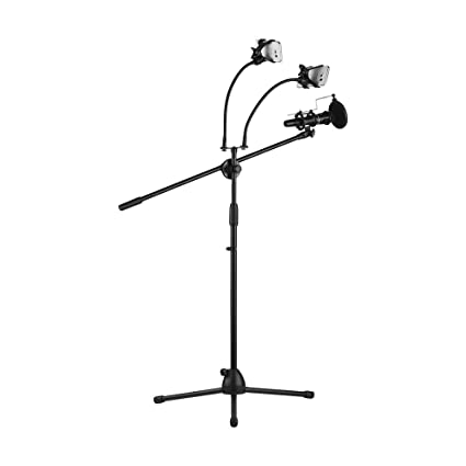 Amazon com: Muslady Metal Microphone Floor Stand Tripod Adjustable