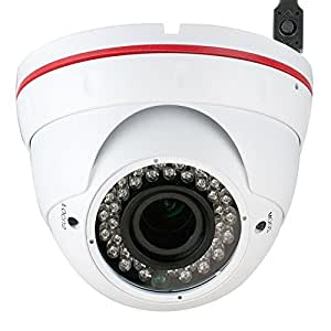 "GW Security 1/3"" Color Sony CMOS 1000TVL 720P 2.8-12mm Varifocal Zoom Lens Security Camera for Indoor and Outdoor Use"