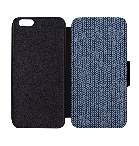 Amazon Wallet Phone Case Yarn Knitted Texture Blue Construction