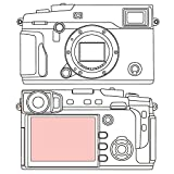 Martin Fields Overlay Plus Screen Protector with Advanced Glass Hard Coating for FujiFilm X-Pro 2