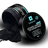 removing Bellamei All Natural Charcoal Teeth Whitening Powder, Activated Coconut Charcoal Teeth Whitener for Stain Removing - Mint Flavor