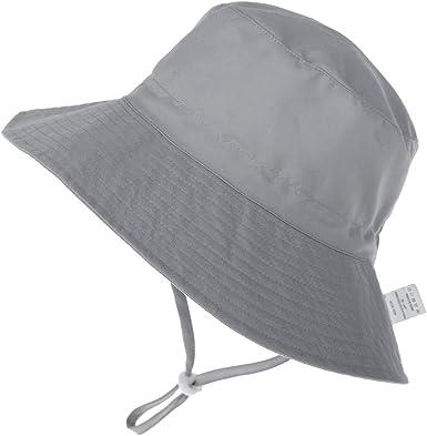 Baby Flapper mit Bindebändern und Nackenschutz Sommer UV Schutz Mütze Unisex
