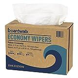 Boardwalk BWKE025IDW Scrim Wipers, 4-Ply, White, 9-3/4'' x 16-3/4'' (Case of 900)