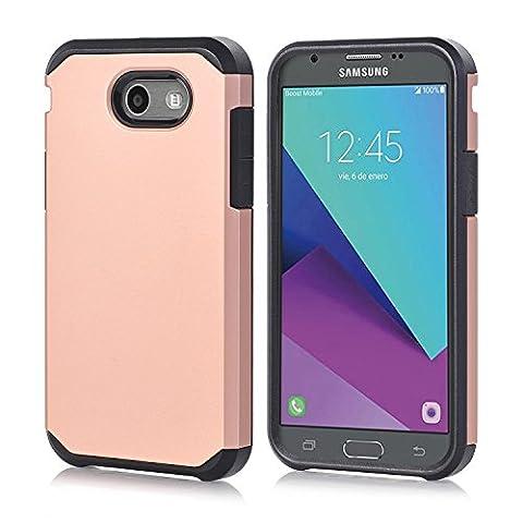 Galaxy J7 V Case, Galaxy Halo / J7 Prime / J7 Perx / J7 Sky Pro Case, Galaxy J7 2017, GPROVA Dual Layer Slim Fit Protective Case Cover For Samsung Galaxy J7 2017 (Rose (Galaxy Speck 5s Case)