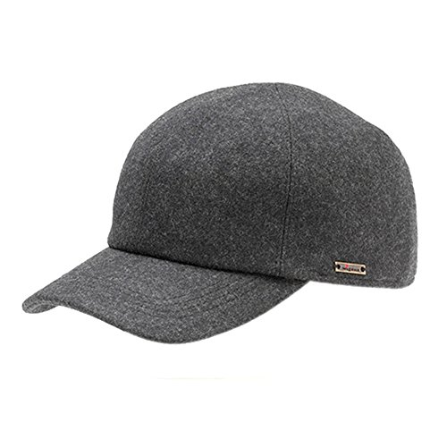 0c60fc41cce Wigens Kent Baseball Cap With Earlaps-Grey-61