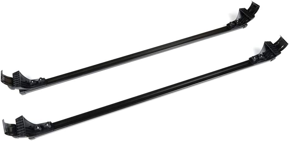 LUJUNTEC Black Aluminum Roof Mounted Roof Rack Cross Bar Set Fit for 2007-2012 Dodge Caliber 4-door,2006-2018 Dodge Charger 4-door,1990-1994 Dodge Colt 4-door Top Rail Carries Luggage Carrier