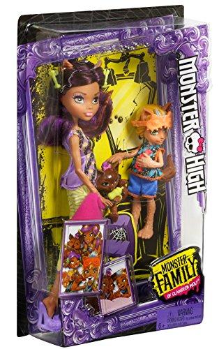Monster High Monster Family Clawdeen Wolf, Barker Wolf, Weredith Wolf Dolls, 3 Pack