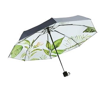 27cf9ae03 Paraguas plegable Mini sombrillas compactas ligeras para mujeres Paraguas  de cinco pliegues Protección solar Paraguas de