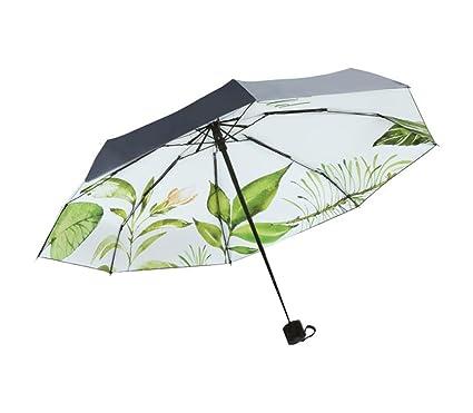 Paraguas plegable Mini sombrillas compactas ligeras para mujeres Paraguas de cinco pliegues Protección solar Paraguas de
