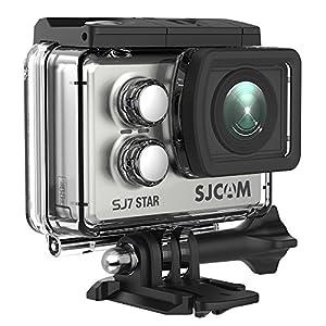 SJCAM SJ7 Star WiFi 4K Action Camera 30FPS Ambarella A12 Chipset 2 inch Screen/Sony Sensor/Wireless Remote Control Supported/Gyro Stabilization Waterproof Underwater Camera (Case Included)- Silver