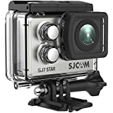 SJCAM SJ7 Star WiFi Action Camera, 4K@30FPS Ambarella A12 Chipset/2 Touchscreen/Sony Sensor/Wireless Remote Control Supported/Gyro Stabilization,Waterproof Underwater Camera (Case Included)- Silver