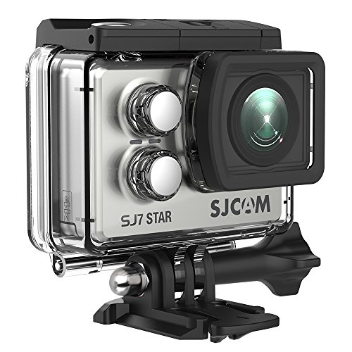 SJCAM SJ7 Star WiFi 4K Action Camera 30FPS Ambarella A12 Chipset 2 inch Screen/Sony Sensor/Wireless Remote Control Supported/Gyro Stabilization Waterproof Underwater Camera (Case Included)- Silver