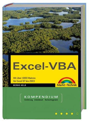 Excel VBA   Kompendium  Mit über 1000 Makros Von Excel 97 Bis 2004  Kompendium   Handbuch