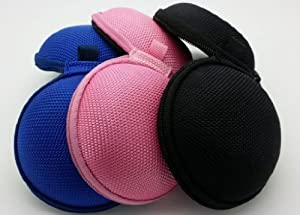 Bluecell Black/Blue/Pink Earphone in-ear Hard Case/Bag Pack of 3 by BLUECELL