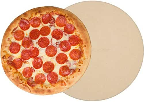 Pizza Stone for Cooking Baking Grilling - 15 Inch 3/4
