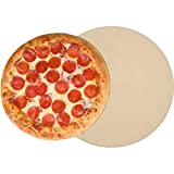 "Pizza Stone for Cooking Baking Grilling - 15 Inch 3/4"" Extra Thick - For Oven and BBQ Grill - With Durable Foam Packaging, Gift Box & Pizza Recipes EBook"
