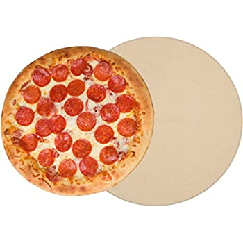 """Pizza Stone for Oven Baking Grilling - 15 Inch 3/4"""" Extra Thick - Cooking & Baking Stone for Oven and BBQ Grill - With Durable Foam Packaging, Gift Box & Pizza Recipes EBook"""