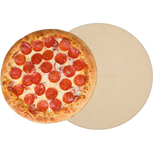 Pizza Stone for Oven Baking Grilling - 15 Inch 3/4' Extra Thick - Cooking & Baking Stone for Oven and BBQ Grill - With Durable Foam Packaging, Gift Box & Pizza Recipes EBook