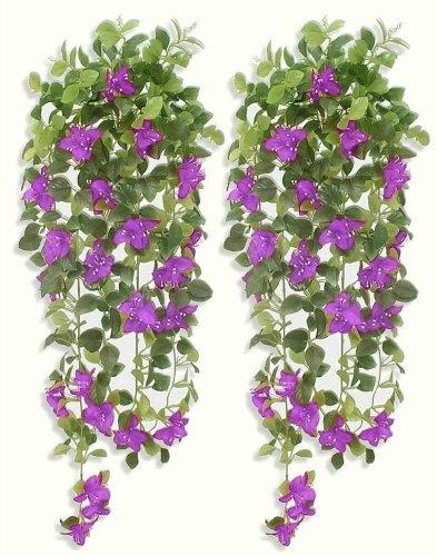 2-x-37-Bougainvillea-Ivies-Artificial-Hanging-Plants-WITHOUT-POTS