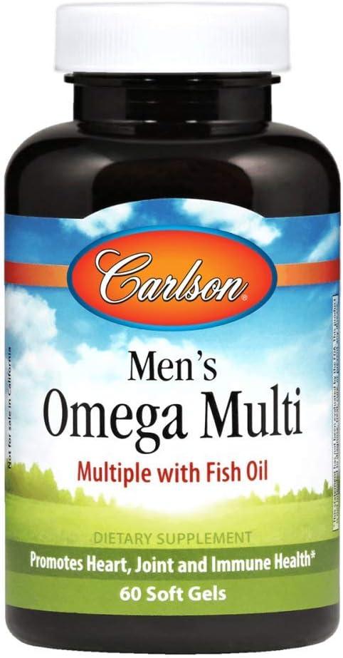 Carlson Laboratories Men's Omega Multi X Soft Gels, 60 Count
