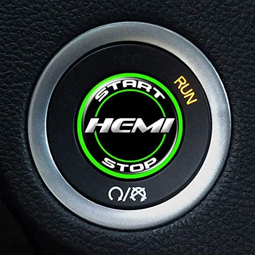 Red A110 Moto Badge HEMI Ignition Push Start Button Overlay Decal for Dodge Challenger and Charger