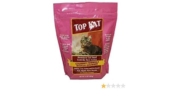 Amazon.com : TOP KAT CAT FOOD - GOURMET FORMULA - Bag 16 oz : Pet Supplies