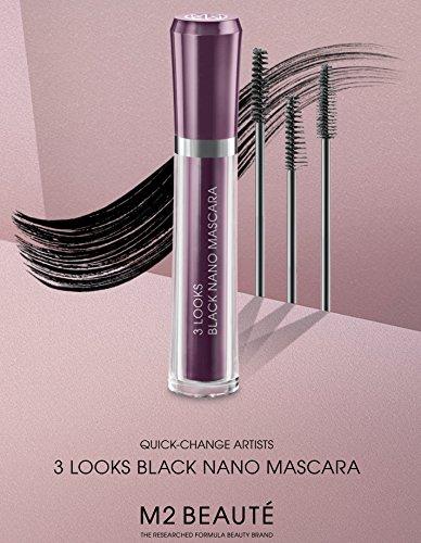 M2Beaute Mascara & Eyelash Activating Serum 5ml - 3 LOOKS BLACK NANO MASCARA with 5ml Eyelash growth Serum & M2Beaute Gift Box by M2Beaute (Image #6)